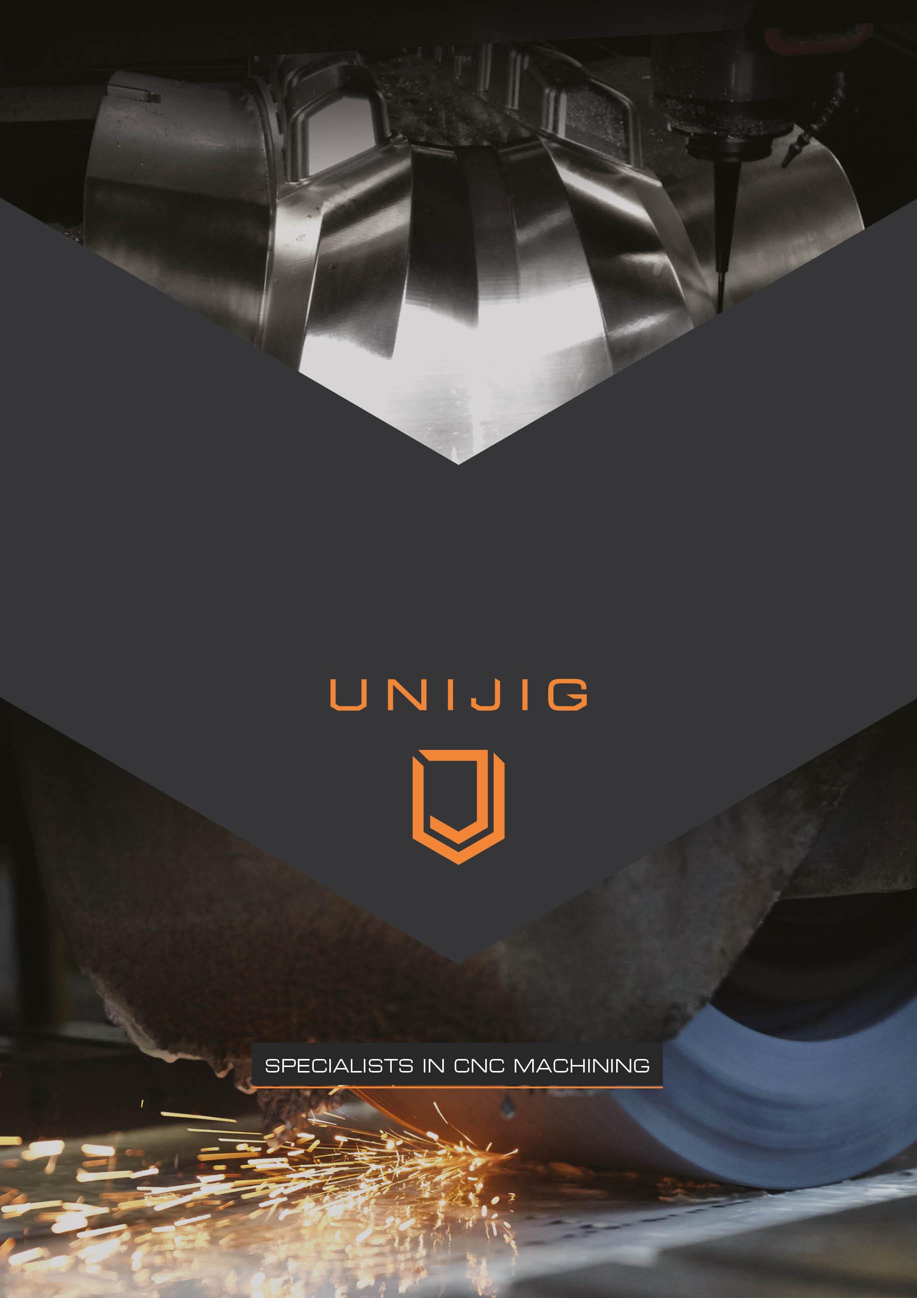 Unijig 6pp roll fold brochure alt no lines